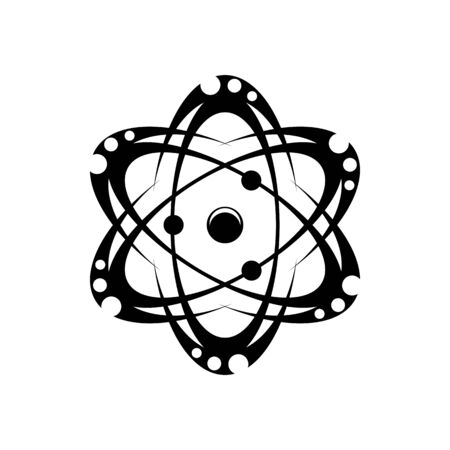 Orbiting molecules and atoms isolated connection and movements of parts. Vector circulating particles