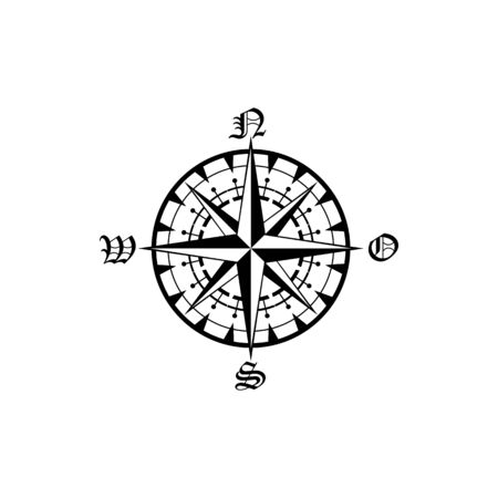 Navigation compass sign, Rose of Winds isolated. Vector marine and nautical sailing cartography compass