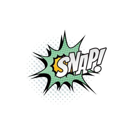 Comic sound blast, Snap bubble chat cartoon icon. Vector Snap sound blast, explosion boom burst, superhero comic book art