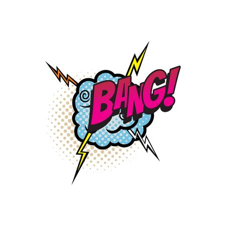 Sound blast, Bang bubble comic book cartoon icon. Vector Bang sound cloud, explosion boom bang, superhero comic book art speech