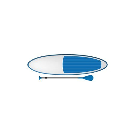 Sup board stand up paddle boards to surf isolated icon. Vector surfboard to ride on waves Illustration
