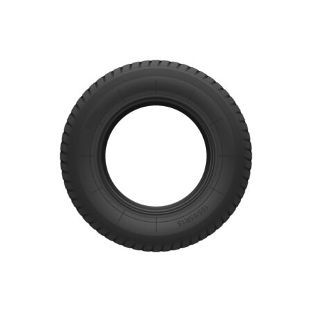 Car tyre isolated R15 rubber tire front view. Vector vehicle wheel realistic design 向量圖像