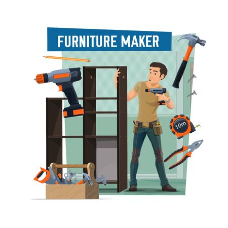 Furniture maker profession and service, handyman assembly furniture