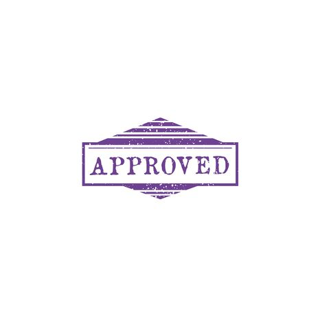 Approved stamp seal isolated grunge sign of approval. Vector accepted or control mark, access permit. Allowed or ratified, accredited or endorsed insignia. Granted mark on document, check of quality
