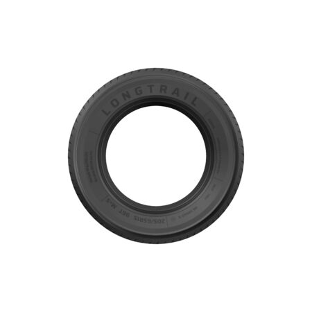 Front view of black rubber tire rim isolated vehicle wheel spare part. Vector car brakes system object, new summer or winter tyre, off road jeep track rubber wheel. Mechanic service tires fix