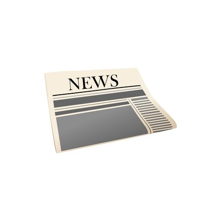 Morning newspaper flat vector illustration. Daily news publication, newsletter. Latest information circulation. Folded newspaper front page with event report, article. Journalism, brainwash symbol