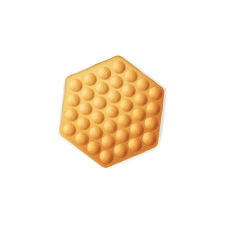 Crispy cracker isolated biscuit. Vector Christmas cookies, crunchy bakery food snack