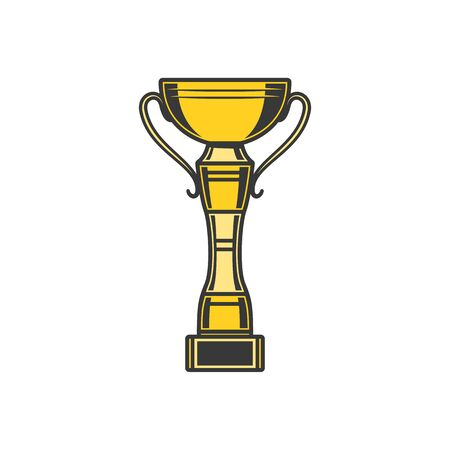 Bowing tournament trophy cup isolated. Vector golden award, sport game prize 版權商用圖片 - 144214390