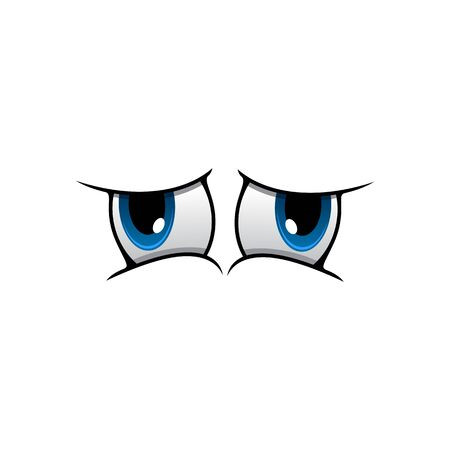 Eyes expressing surprise vector illustration. Raised eyebrows facial element isolated on white background. Cartoon human eyes showing wonder, astonishment, fascination. Caricature eyeballs emoji