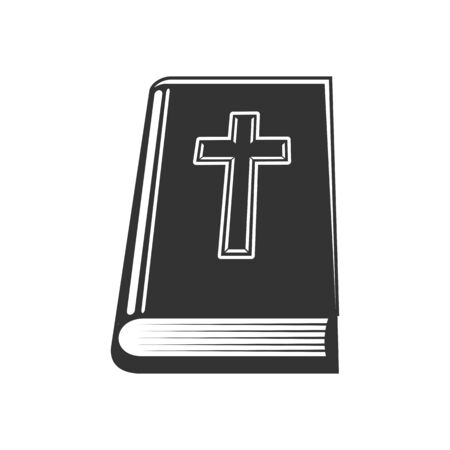 Christian holy book with worships isolated bible. Vector scripture with worships, christian religion gospel