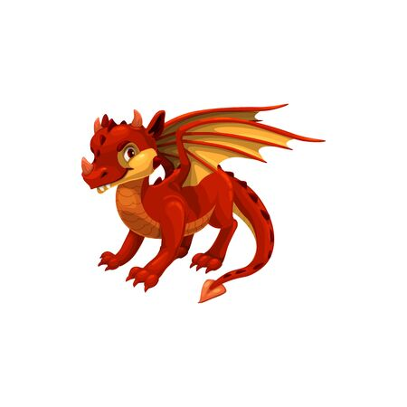 Cartoon dragon chinese horoscope, emperor symbol, isolated china lunar new year zodiac animal for 2024, oriental culture and tradition, vector illustration, mascot icon