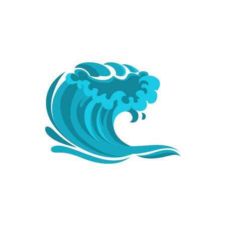 Marine splashes isolated water wave. Vector ocean or sea waves, wind surf gale swirls streams
