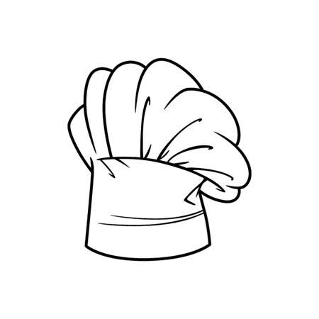 Baker hat isolated outline icon. Vector linear chefs cap, kitchener headdress
