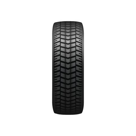 Vehicle tires with winter tread pattern isolated. Vector car tyre profile, transport rubber wheel