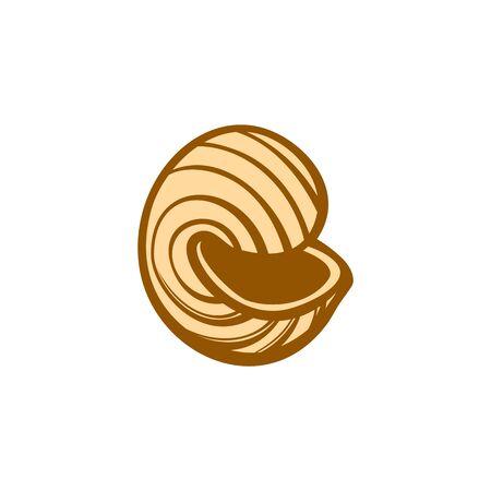 Popular italian pasta type. Vector sketch