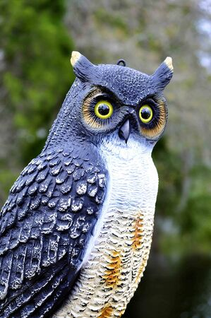 animals horned: Owl Lawn Ornament