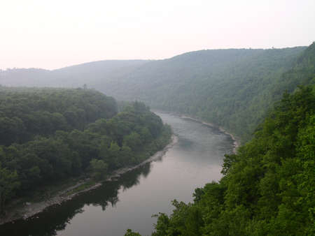 Overlooking the Delaware River at The Hawks Nest.