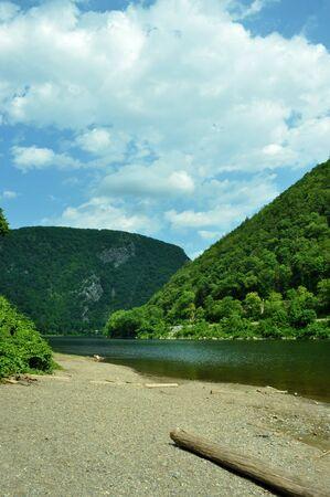 Góry i wzgórza wzdÅ'uż rzeki Delaware. Zdjęcie Seryjne