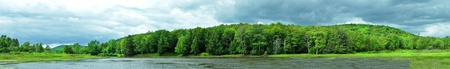 A Panorama of a lake in upstate New York.