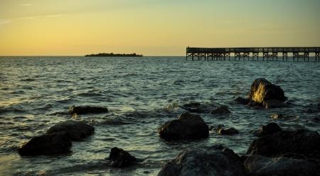 Dock Near a Rocky Beach  Reklamní fotografie