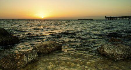 Rocky Beach at Dusk  Reklamní fotografie