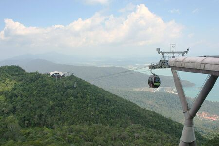 langkawi island: Cable car at Langkawi Island Stock Photo