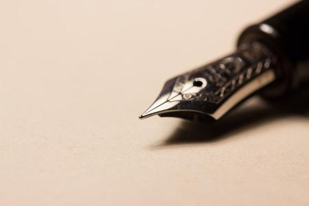 fountain pen on paper, macro