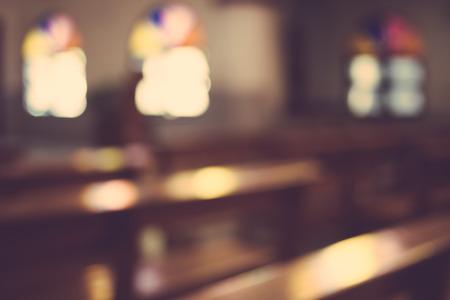 kerkinterieur blur abstract achtergrond Stockfoto