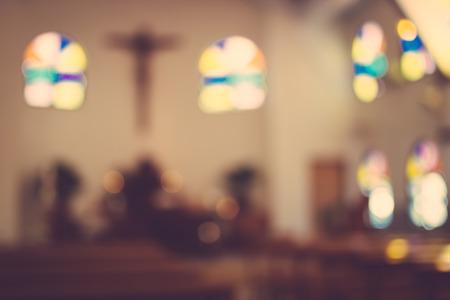chiesa sfocatura interno astratto
