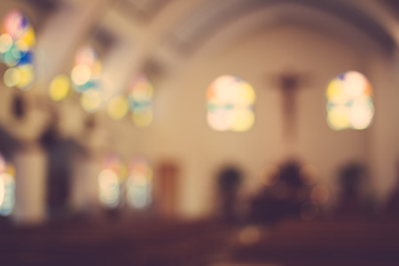 catholic church: church interior blur abstract background