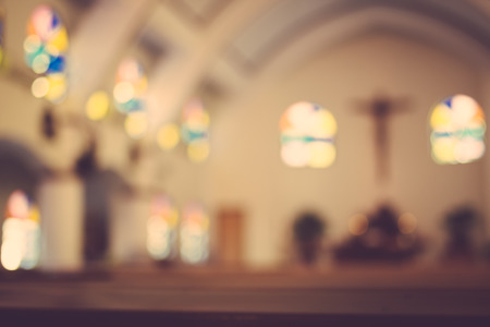 church architecture: church interior blur abstract background