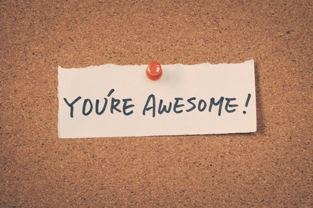 Awesome word letter text note message Foto de archivo