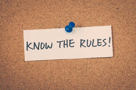 Know the rules Standard-Bild