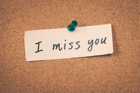 miss: I miss you Stock Photo