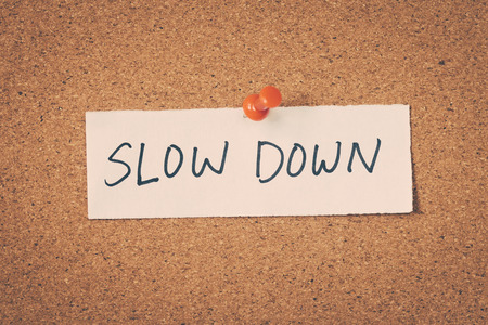 take down notice: Slow down Stock Photo