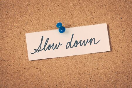 Slow down Stock Photo