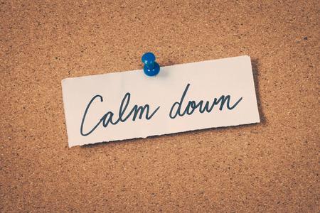 calm down Stock Photo