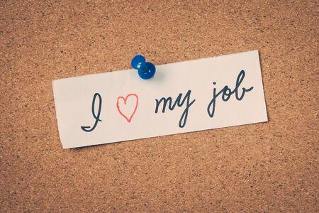 great job: I love my job