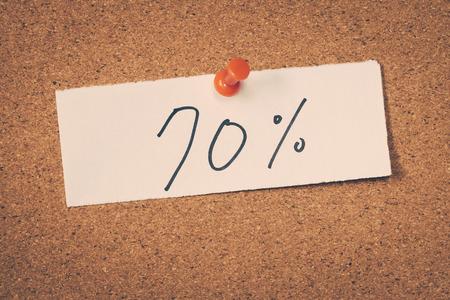 seventy: 70 Il settanta per cento