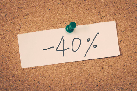 forty: 40 forty percent off