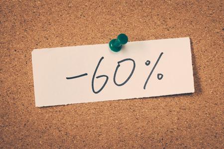 60: 60 sixty percent off Stock Photo