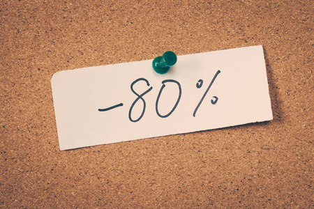 achtzig: 80 achtzig Prozent off Lizenzfreie Bilder