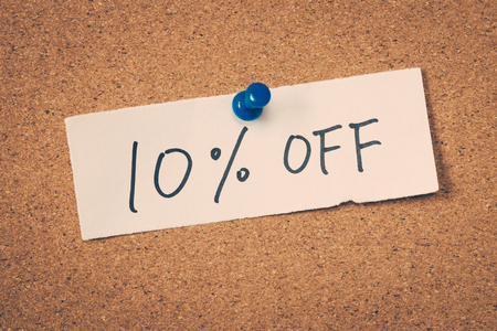 ten: 10 ten percent off Stock Photo