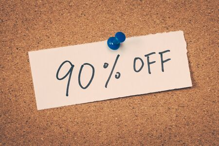 90: 90 ninety percent off Stock Photo