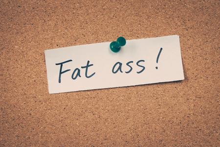 Fat ass Banco de Imagens