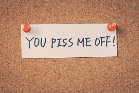 the piss: You piss me off