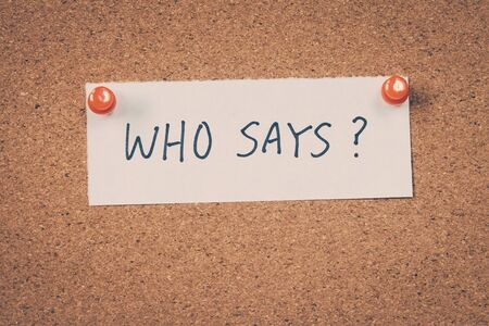 spoken: Who says