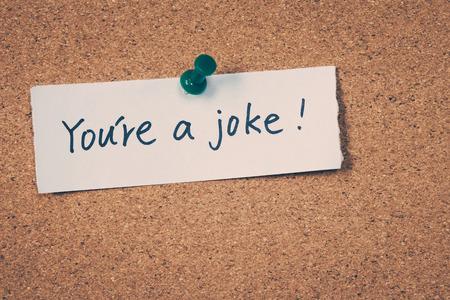 irrespeto: Usted es una broma Foto de archivo