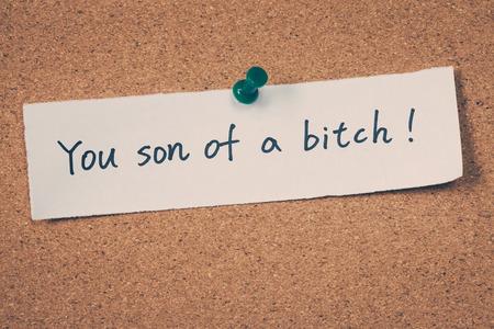 puta: Eres un hijo de puta