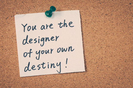 own: You are the designer of your own destiny Stock Photo